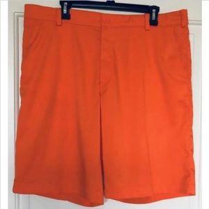 Nike Dri-Fit Performance Orange Golf Shorts NWOT